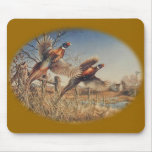 Pheasants Aloft - Great Hunting on the farm Mouse Pads