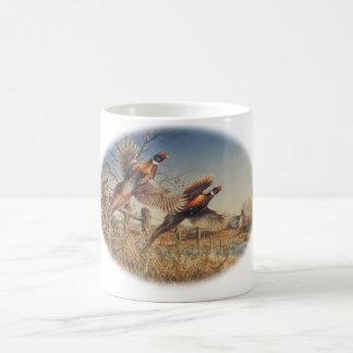 Pheasants Aloft - Great Hunting on the farm Classic White Coffee Mug