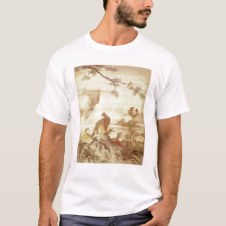 Pheasants and peonies, from a series of scrolls T-Shirt