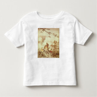 Pheasants and peonies, from a series of scrolls toddler t-shirt