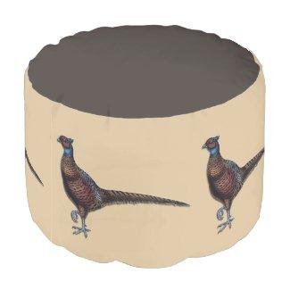 Pheasants Ottoman Pouf