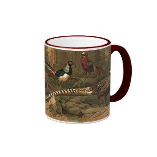Pheasants Ringer Ceramic Mug