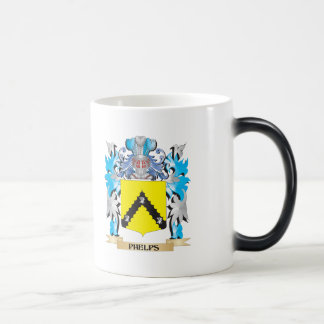 Phelps Coat of Arms - Family Crest 11 Oz Magic Heat Color-Changing Coffee Mug
