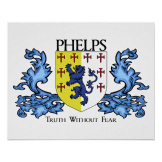 Phelps Family Coat of Arms Poster