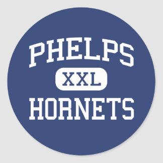 Phelps - Hornets - High School - Phelps Kentucky Round Stickers