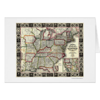 Phelps United States Map 1852 Card