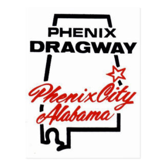phenix Dragway Postcard