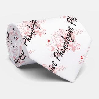 Phenologist Artistic Job Design with Butterflies Neck Tie