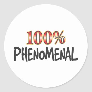 Phenomenal 100 Percent Round Sticker