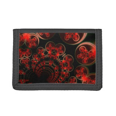 Phenomenon, Orange Gold Abstract Cosmic Explosion Tri-fold Wallet