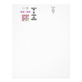 Phenotypes Way Of Appearing Generations Cats Letterhead