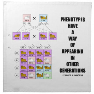 Phenotypes Way Of Appearing Generations Cats Napkin