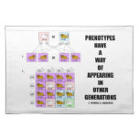 Phenotypes Way Of Appearing Generations Cats Cloth Placemat