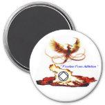 Pheonix Free 3 Inch Round Magnet