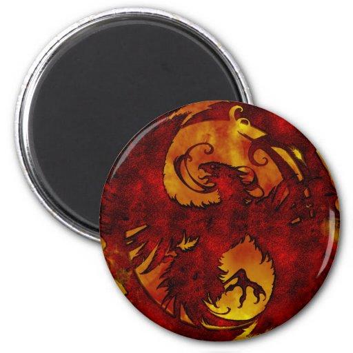 Pheonix Rising Fantasy 2 2 Inch Round Magnet
