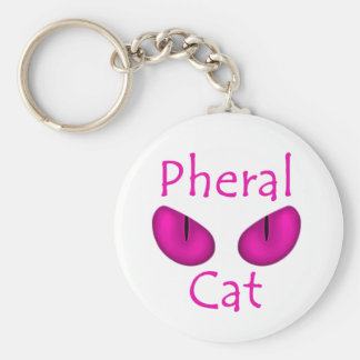 Pheral Cat (Pink Eyes) Key Chains