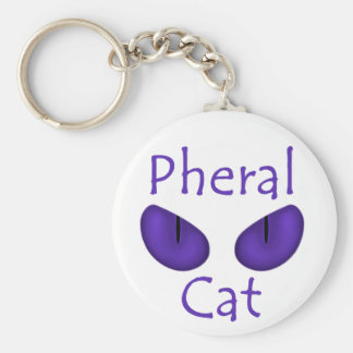 Pheral Cat (Purple Eyes) Key Chains