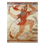 Phersu dancing postcard