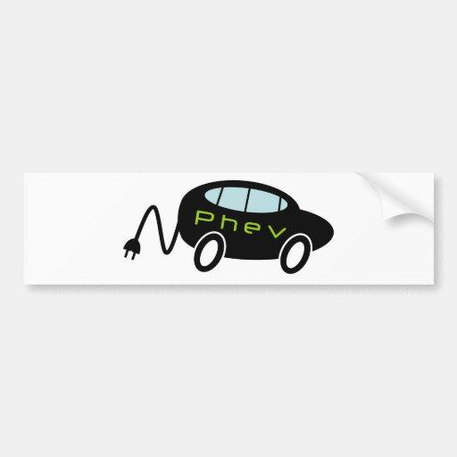 PHEV car and plug Bumper Sticker