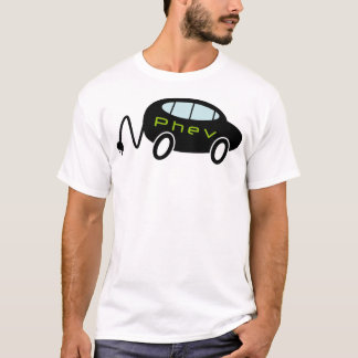 PHEV car and plug T-Shirt