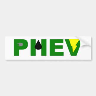 PHEV lightning oil and plug Bumper Sticker