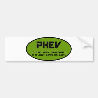 PHEV save the earth Bumper Sticker