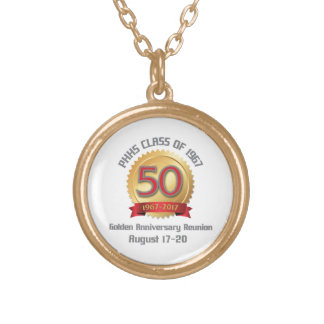 PHHS Class of 1967 50-Year Reunion Gold Plated Necklace