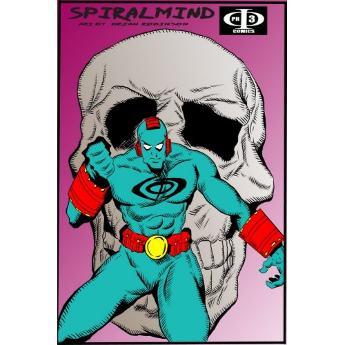 Phi3 comics SPIRALMIND skull pinup by artist Brian print