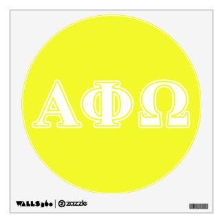 Phi alfa letras blancas y amarillas de Omega