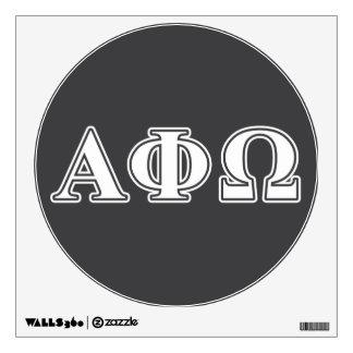 Phi alfa letras blancas y azules de Omega