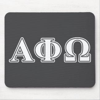 Phi alfa letras blancas y azules de Omega Mouse Pad