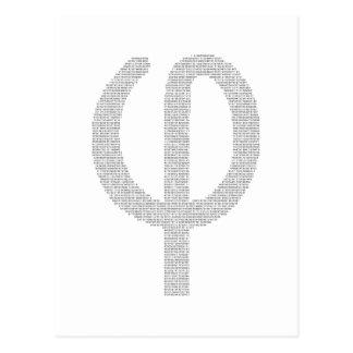 Phi (coeficiente de oro) tarjeta postal