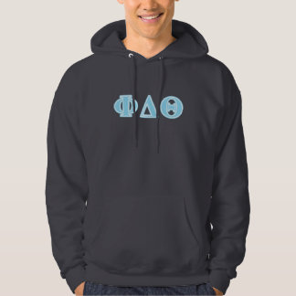 Phi Delta Theta Baby Blue Letters Hoodie