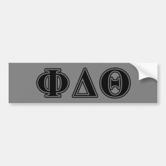 Phi Delta Theta Black Letters Bumper Sticker