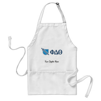 Phi Delta Theta - Blue Greek Lettters and Logo Adult Apron