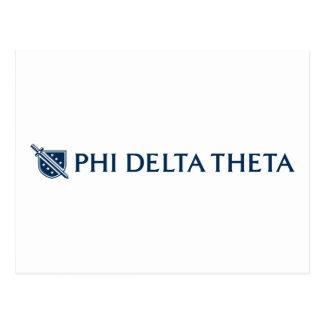 Phi Delta Theta - Blue Horizontal Logo 2 Postcard