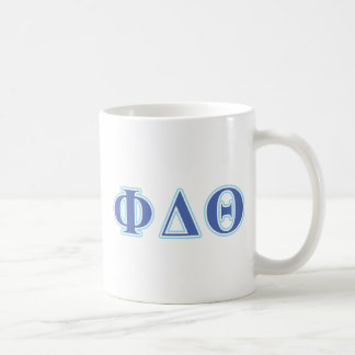 Phi Delta Theta Royal Blue and Baby Blue Letters Coffee Mug