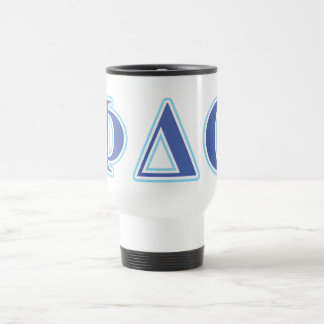 Phi Delta Theta Royal Blue and Baby Blue Letters Travel Mug