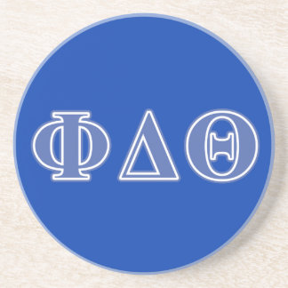 Phi Delta Theta Royal Blue Letters Drink Coaster