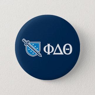 Phi Delta Theta - White Greek Lettters and Logo 2 Pinback Button