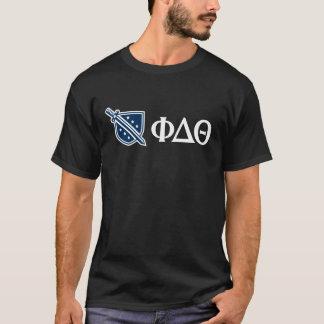 Phi Delta Theta - White Greek Lettters and Logo 3 T-Shirt