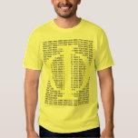 Phi/el coeficiente de oro camisas