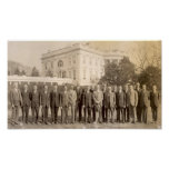 Phi Gam Leaders with Calvin Coolidge Print