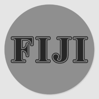 Phi Gamma Delta Black Letters Classic Round Sticker
