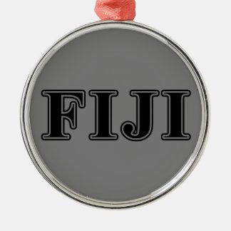 Phi Gamma Delta Black Letters Metal Ornament