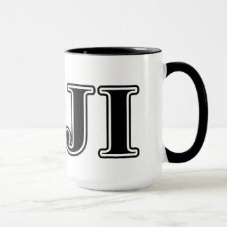 Phi Gamma Delta Black Letters Mug