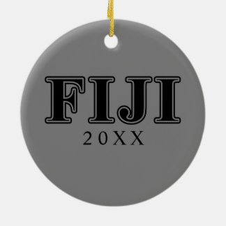 Phi Gamma Delta Black Letters Double-Sided Ceramic Round Christmas Ornament