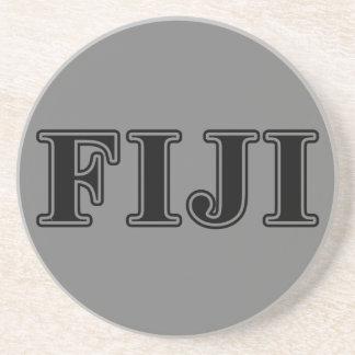 Phi Gamma Delta Black Letters Sandstone Coaster