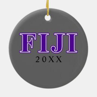 Phi Gamma Delta Purple Letters Ceramic Ornament