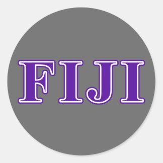 Phi Gamma Delta Purple Letters Classic Round Sticker